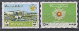 Myanmar 2014 Chairmanship Of ASEAN Stamps 2v MNH - Myanmar (Burma 1948-...)
