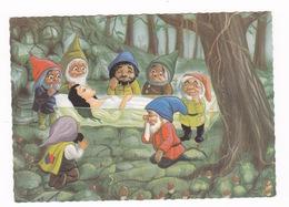 Belle CP Années 1950, Frères Grimm, Blanche-Neige Et Les Sept Nains, Hansa-Verlagsanstalt, Bonn - Cuentos, Fabulas Y Leyendas