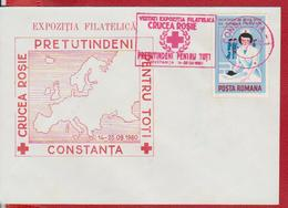RED CROSS, MAP EUROPA ROMANIA SPECIAL COVER - Croix-Rouge