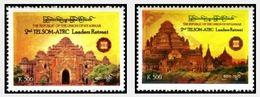 Myanmar 2012 The 2nd TELSOM-ATRC Leaders Retreat Stamps 2v MNH - Myanmar (Burma 1948-...)