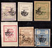 IRAN - PERSE - Postes Persanes - 1906 - Numéro Y&T 243A à 248 Oblitérés Et Neufs - Iran