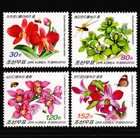 2010 North Korea Stamp Flower Orchid 4v - Orchideeën
