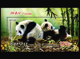 2012 North Korea Stamp Animal Panda S/S - Korea, North