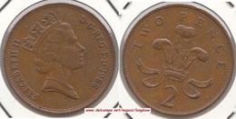Gran Bretagna 2 Pence 1988 Km#936 - Used - 2 Pence & 2 New Pence