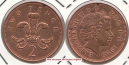 Gran Bretagna 2 Pence 1999 Km#987 - Used - 2 Pence & 2 New Pence