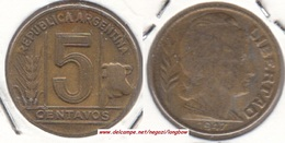 Argentina 5 Centavos 1947 KM#40 - Used - Argentina