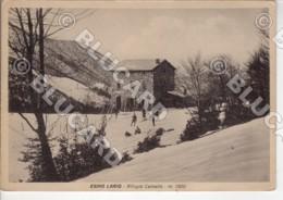 29468 LECCO 1940 ESINO LARIO RIFUGIO HUT CAINALLO ANIMATA NEVE SNOW INVERNO WINTER - Lecco