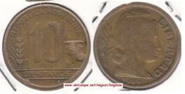 Argentina 10 Centavos 1949 KM#41 - Used - Argentina