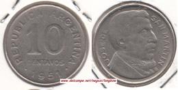 Argentina 10 Centavos 1951 KM#47 - Used - Argentine
