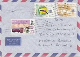 Brunei 1985: Air Mail To Menden - Brunei (1984-...)