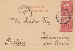 Peru 1901: Post Card Municipalidad To Johannesberg/Austria - Peru