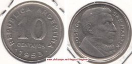 Argentina 10 Centavos 1953 KM#47a - Used - Argentine