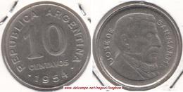 Argentina 10 Centavos 1954 KM#51 - Used - Argentina