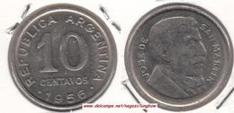 Argentina 10 Centavos 1956 KM#51 - Used - Argentine
