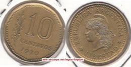 Argentina 10 Centavos 1970 KM#66 - Used - Argentina