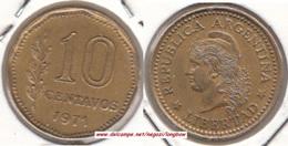 Argentina 10 Centavos 1971 KM#66 - Used - Argentina