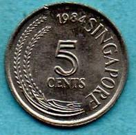 T10/ SINGAPORE  5 Cents 1984 - Singapore