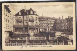 14376 . TROUVILLE . L HOTEL DE PARIS . (recto/verso) ANNEE  1936 . CAP - Trouville