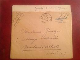 Vaguemestre De Garnison 1940 Rethel Pour Maisons Alfort - Guerre De 1939-45
