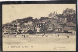 14392 . TROUVILLE . LES VILLAS  . LL . (recto/verso)  ANNEE  1924 . ANIMATION - Trouville