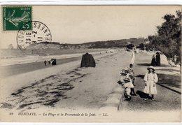 Hendaye La Plage Et La Promenade De La Jetér - Hendaye