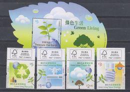 China Hong Kong 2011 Green Living (stamps 4v+SS) MNH - 1997-... Chinese Admnistrative Region