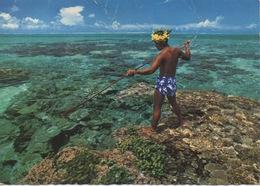 CPSM BORA-BORA  Pêcheur Au Harpon - French Polynesia