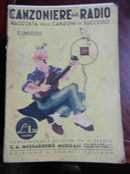 7) FASCICOLO CANZONIERE DELLA RADIO 2° FASCICOLO 1940 ILLUSTRATORE NON RILEVATO - Muziek