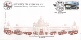 India  2018  Cars  World Automobile Day  Vintage & Classic Cars  Special Cover  #  14906  D Inde Indien - Cars