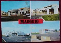 Cpsm 34 HERAULT MAUGUIO Multivues CENTRE ADMINISTRATIF , PISCINE , ECOLE MIXTE ALBERT CAMUS  éditeur  HENRI MOIROUD - Mauguio