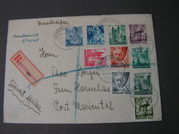 Saarland Brief 1948 - 1947-56 Allierte Besetzung