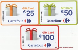Gift Card Italy Carrefour Complete Set 3 Cards - Gift Cards