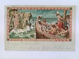 Künstler-AK Odysseus Und Die Syrenen, W.E., Gelaufen 1900 - Ansichtskarten