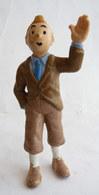 FIGURINE TINTIN  BULLY 1990 TINTIN CHEMISE BLEUE CRAVATE BLEUE (3) ABE+ - Tintin