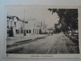 CPA ALGERIE - .ER RAHEL  Rue Principale - Andere Steden