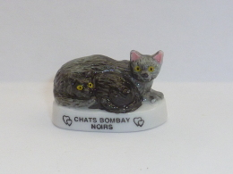 FEVE LES CHATS, LES CHATS BOMBAY NOIRS - Animals
