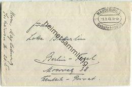 Brief Aus Magdeburg 1 Vom 03.09.1945 Mit 'Gebühr Bezahlt' Stempel C1h In Schwarz - Sowjetische Zone (SBZ)