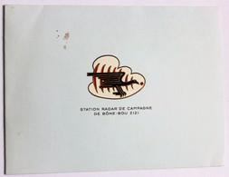 Carte De Voeu Station Radar De Campagne De Bône Bou Zizi Base Aérienne Guerre D'Algérie 1961 Armée Française - Casernes