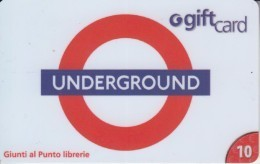 Gift Card Italy Giunti Underground - Gift Cards