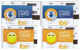 Gift Card Italy I B S Complete Set 4 Cards - Gift Cards