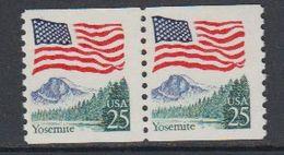 USA 1988 Yosemite (coil Stamps) 1v Pair ** Mnh (40747G) - Ongebruikt
