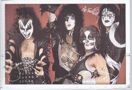 Kiss  Gruppe  - Bravo Druckautogrammkarte   - AK-08.193 - Autographs