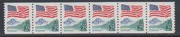 USA 1988 Yosemite (coil Stamps) 1v Strip Of 6 ** Mnh (40747H) - Ongebruikt