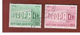 SAN MARINO - UNIF. 779.780   - 1969 EUROPA (SERIE COMPLETA DI 2)     -  USATI (USED°) - Oblitérés