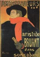 CPSM Musée Toulouse LAUTREC Albi -Affiche Ambassadeurs - Aristide Bruant - Musées