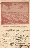 Artiste Cp Luxemburg, Ansicht Der Ortschaft Im 16 Jh. - Postkaarten