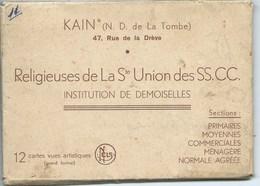 Kain Religieuses De La Ste Union Institution De Demoiselle ( Carnet De 11 !!!! Vue Sur Les 12 ) - Tournai