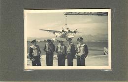SAINT MANDRIER - Un Hydravion,année 1951( Photo  Format 9,5cm X 6,6cm). - Aviation