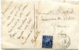N°113 Sur CP De Bonne Année Oblitéré à NOUMEA Le 30/12/1930 - Briefe U. Dokumente
