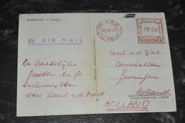 3387- Somalia  Somalie, Tungi - To Holland With Stamp From Pakistan - 1967 - Somalia